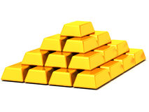 Ingots gold Royalty Free Stock Photos
