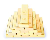 Ingots of gold Royalty Free Stock Photography