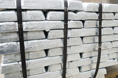 Ingots of metal Stock Photography