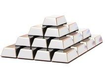 Ingots silver Royalty Free Stock Image