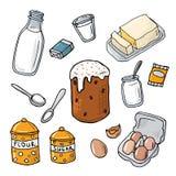 Ingrédient de gâteau de Pâques Traitement au four fait maison Illustration de Vecteur