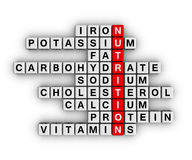 Ingrédient de nutrition Photos libres de droits