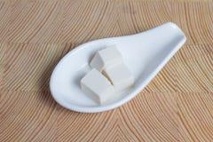 Ingrédient de tofu de fromage de soja pour le miso de préparation de soupe photographie stock libre de droits