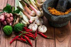 Ingrédient thaïlandais de pâte de cari NON de gare photo stock