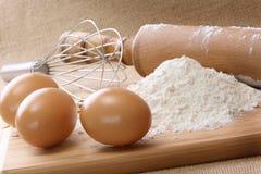 Ingrédients à faire cuire au four Image stock