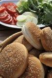 Ingrédients d'hamburger Photos libres de droits