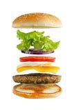 Ingrédients d'hamburger photographie stock
