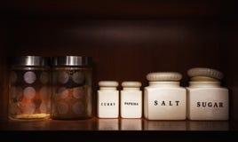 Ingrédients dans des bouteilles Photographie stock libre de droits