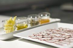 Ingrédients de carpaccio de poulpe Image stock