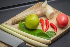 Ingrédients de cuisine thaïlandaise Image libre de droits