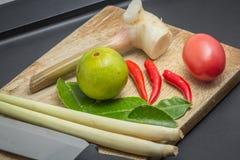 Ingrédients de cuisine thaïlandaise Photographie stock libre de droits