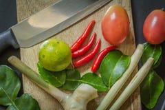 Ingrédients de cuisine thaïlandaise Photo stock