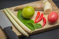 Ingrédients de cuisine thaïlandaise Image stock
