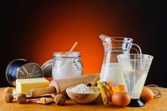 Ingrédients de cuisson Images stock