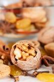 Ingrédients de cuisson de Noël Images stock