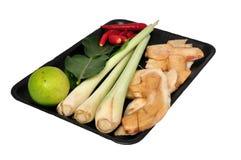 Ingrédients de fines herbes de yum de tom d'ingrédient Photos stock