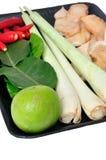 Ingrédients de fines herbes de yum de tom d'ingrédient Photo libre de droits