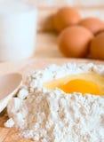 Ingrédients de gâteau Images stock