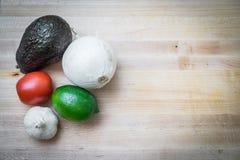 Ingrédients de guacamole Photo stock