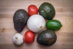 Ingrédients de guacamole Photographie stock