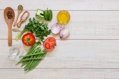 Ingrédients de légumes et espace de texte libre Images libres de droits