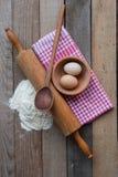 Ingrédients de la pâte images stock