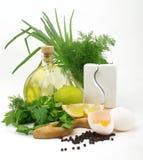 Ingrédients de mayonnaise Photos stock