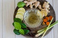 Ingrédients de nourriture épicée thaïlandaise, Tom yum Photos stock