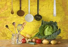Ingrédients de nourriture, faisant cuire le concept Image libre de droits