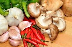 Ingrédients de nourriture fraîche Images stock