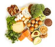 Ingrédients de nourriture de régime de cétonique Images libres de droits