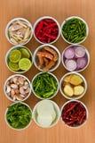 Ingrédients de nourriture thaïs   Photographie stock
