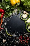 Ingrédients de nourriture végétaux organiques de fond Images stock