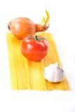 Ingrédients de pâtes Photographie stock libre de droits