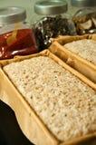 Ingrédients de pain prêts pour le four Photographie stock libre de droits