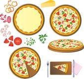 Ingrédients de pizza illustration de vecteur