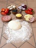 Ingrédients de pizza Image libre de droits