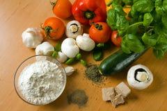 Ingrédients de pizza Photo stock