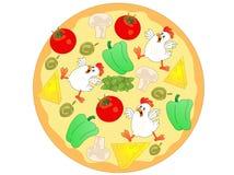 Ingrédients de pizza de poulet Photo libre de droits