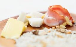 Ingrédients de risotto, foyer peu profond Photo libre de droits