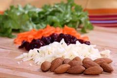 Ingrédients de salade Photographie stock