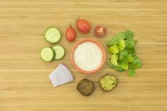 Ingrédients de salade de Falafel Photographie stock libre de droits