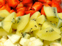 Ingrédients de salade de fruits Photos stock