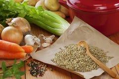 Ingrédients de soupe Images stock