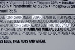 Ingrédients de sucre Photographie stock libre de droits