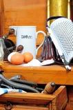 Ingrédients de traitement au four de cuisine Photos libres de droits