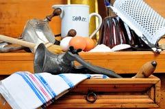 Ingrédients de traitement au four de cuisine Image libre de droits