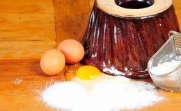 Ingrédients de traitement au four de cuisine Image stock