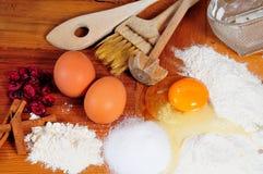 Ingrédients de traitement au four de cuisine Photo stock