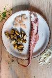 Ingrédients frais de pâtes Image libre de droits
